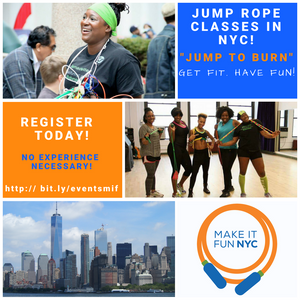 """Jump To Burn"" Jump Rope Classes in NYC and Philly - Join Me!"