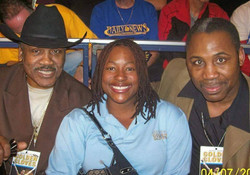 Joe Frazier, Me ahd his son. Back when I was judgihg the golden gloves