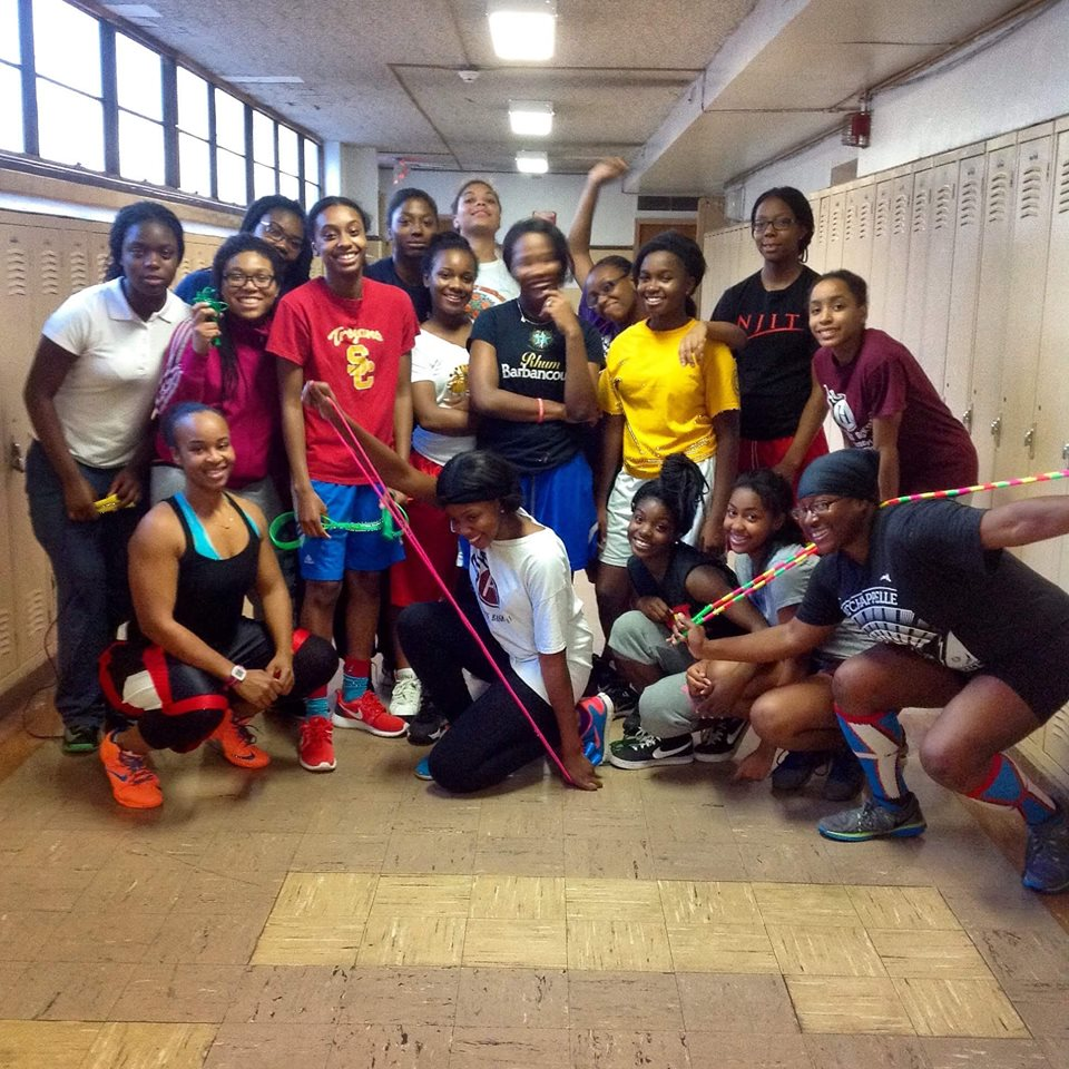Hillside High female basketball team