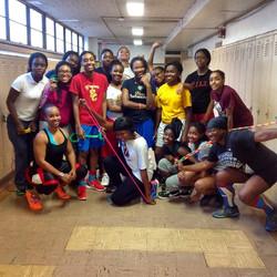Hillside High female basketball team
