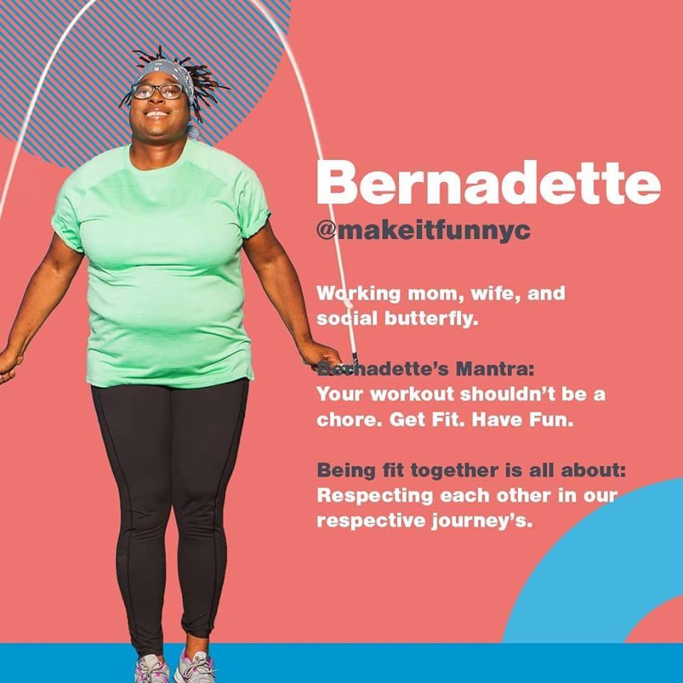 Bernadette and Blink Fitness