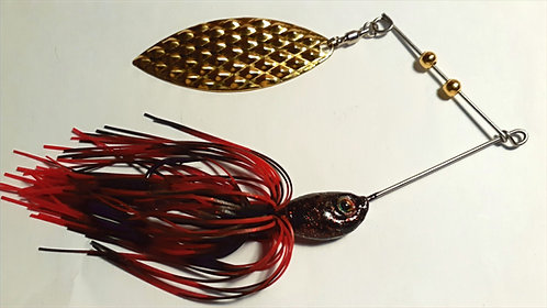 Black with Red Flake Spinnerbait