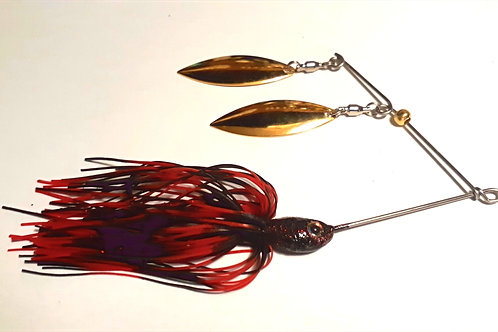 Black with Red Flake Tandem Spinnerbait