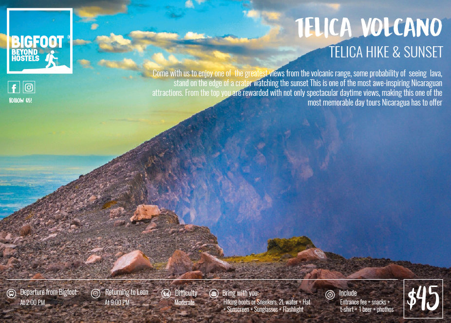Bigfoot Hostel and Volcano Boarding presents Teica Hike