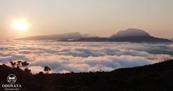 Coucher de soleil au volcan