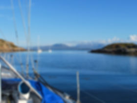 Torridon Sailing Tours at anchor in the Summer Isles in Scotland