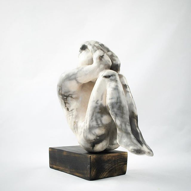 Smokefired sculpture - 24cm