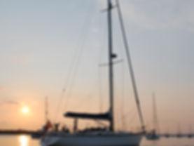 Torridon Sailing Tours at anchor at sunset