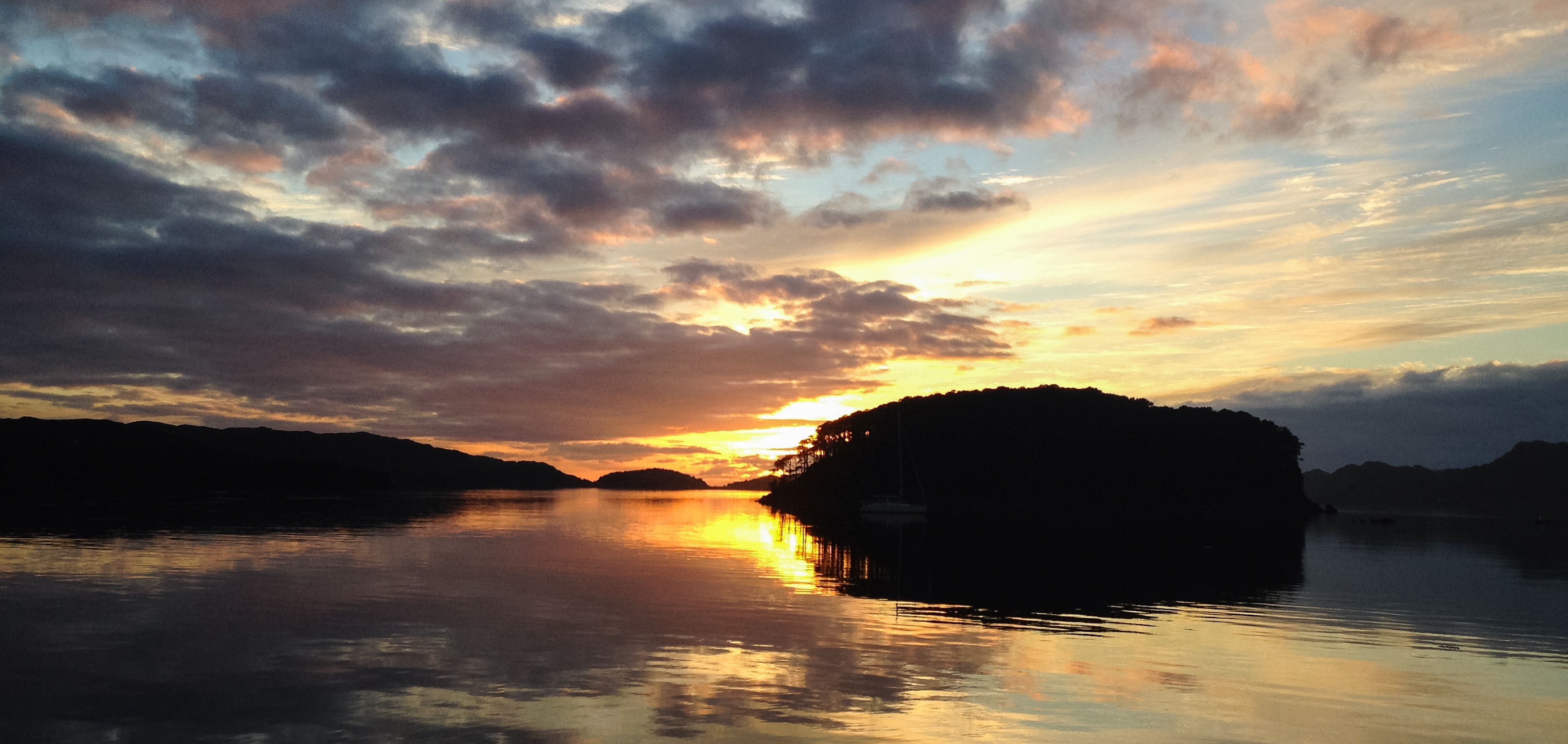 Shieldaig Island at sunset