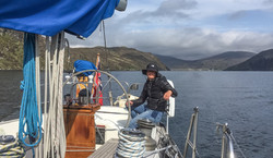 Crew helming out of Loch Seaforth