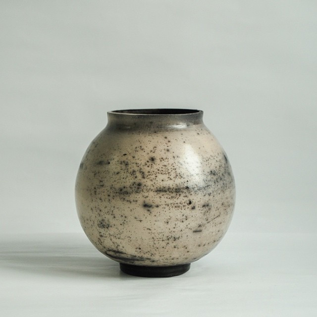 Instagram - This is moon jar number 1.  Smooth clay with some grog added.jpg