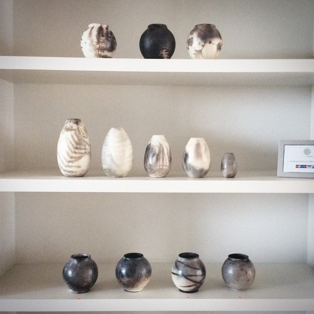 Instagram - Emptying shelves. Bye bye pots. Sending them off to their new homes.
