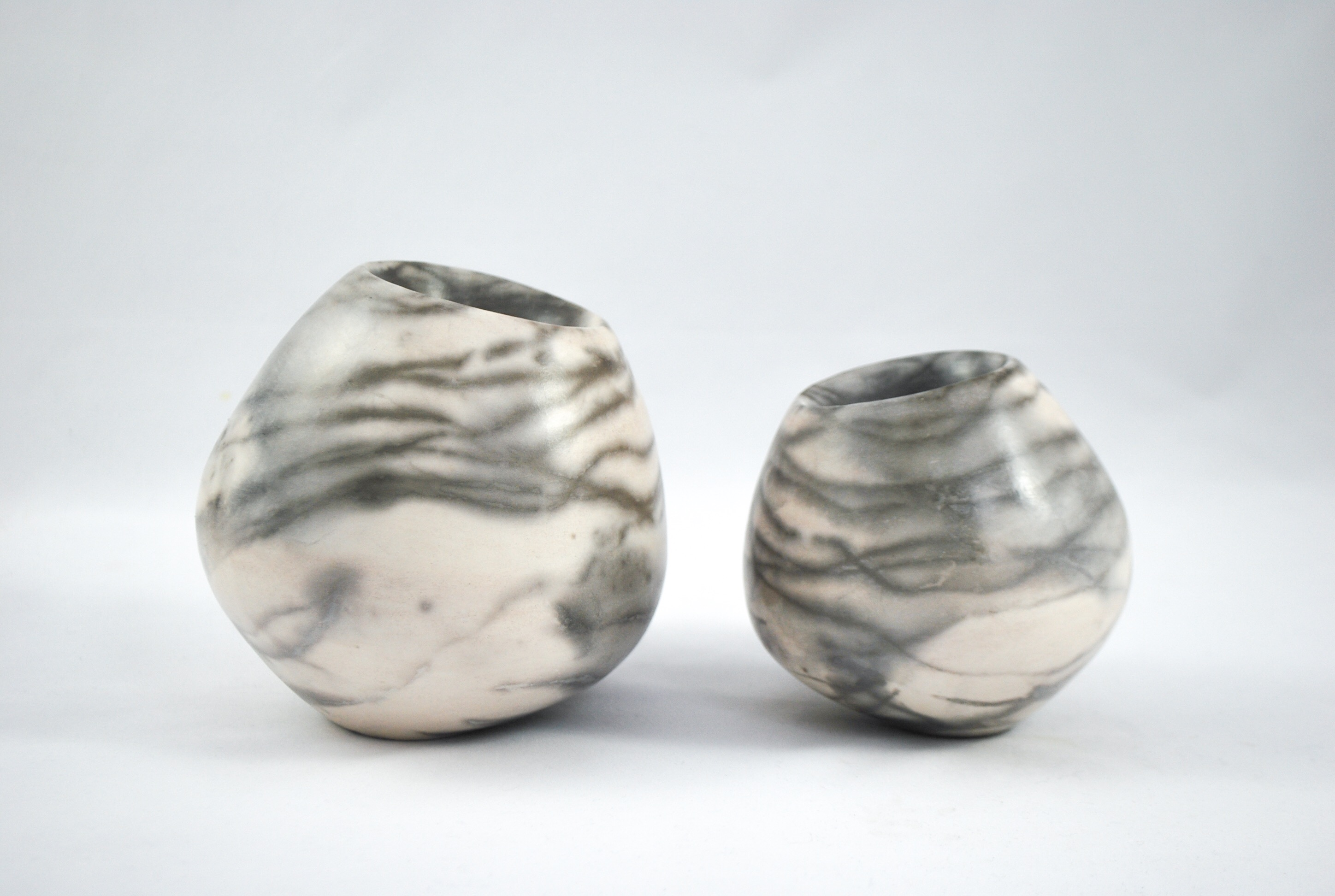 Smokefired hollow form vessels - 10-15cm