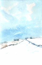Snow at Flash, Highest village in England