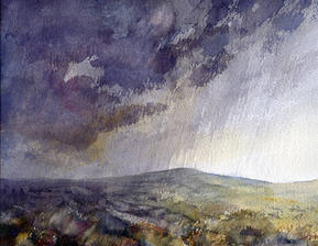Rain over Piggford moor to Bosley SOLD
