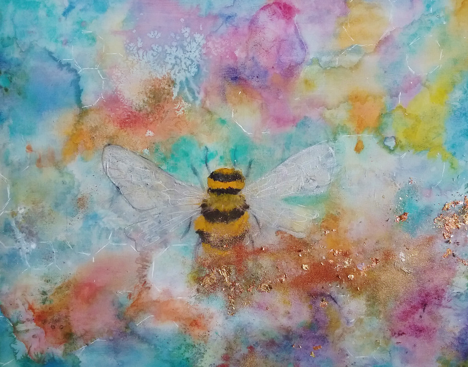 Pollen Trail   Bee Painting