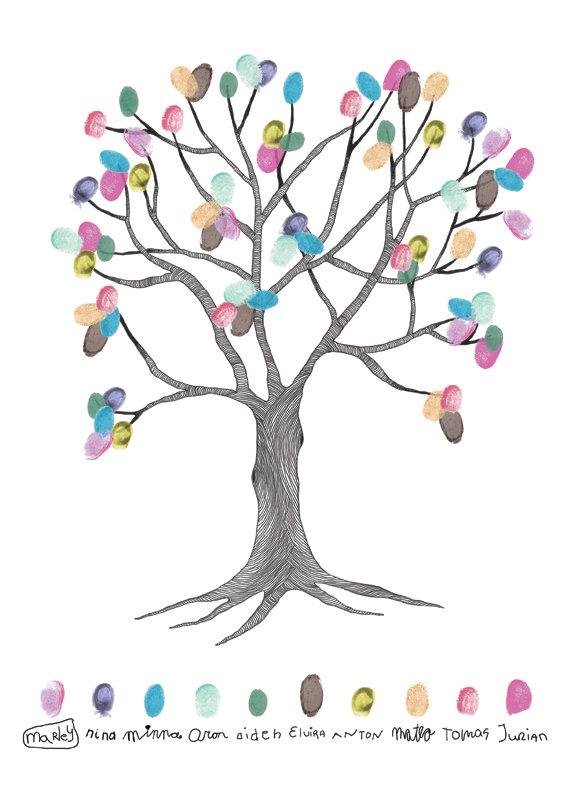 vingerafdruk boom op maat custum made kado dodrrecht stadsfabriek grafische vormgeving elvira oomens