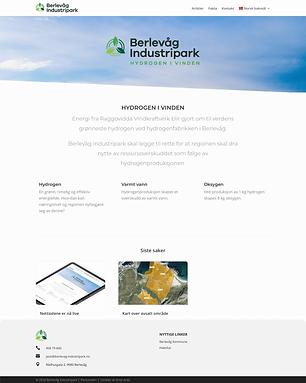 Berlevåg Industripark nettside