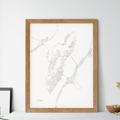 Tøger Design - kartkunst over Tromsø