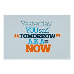 yesterday tomorrow