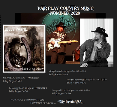 FAIR PLAY COUNTRY MUSIC NOMINEE 2020...