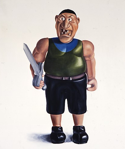 Pirate, 1993, oil on canvas, 76x64inch