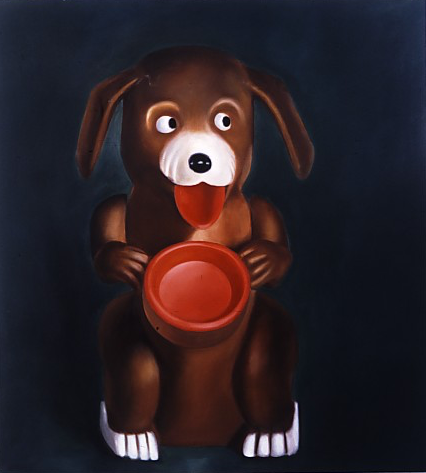 Starving dog, 1994, oil on canvas, 79x76inch