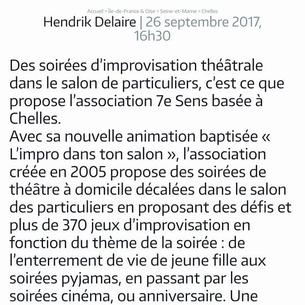 """Article du journal """" Le parisien """""""