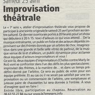 Match d'improvisation à Chelles