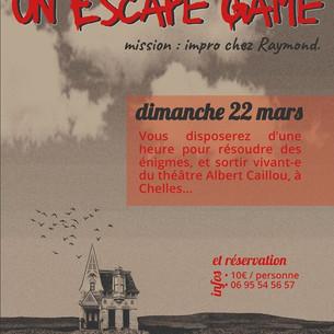 Nouvelle affiche de notre Escape Game