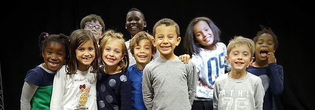 Cours de théâtre d'improvisation pour les enfants de 7 et de 8 ans.