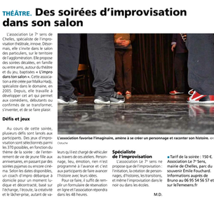 "Article du journal "" La Marne """