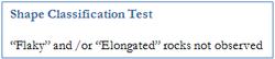 Shape classification test