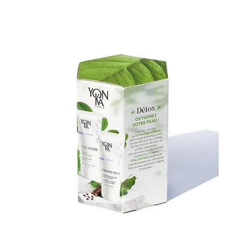 Box beauté Détox Yon-KA soin du visage crèmes, gels et fluides, exfoliants