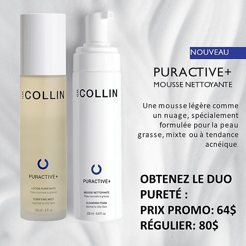 Duo Puractive + Mousse Nettoyante & Lotion Puractive G.M. Collin soin du visage Nettoyants lotions