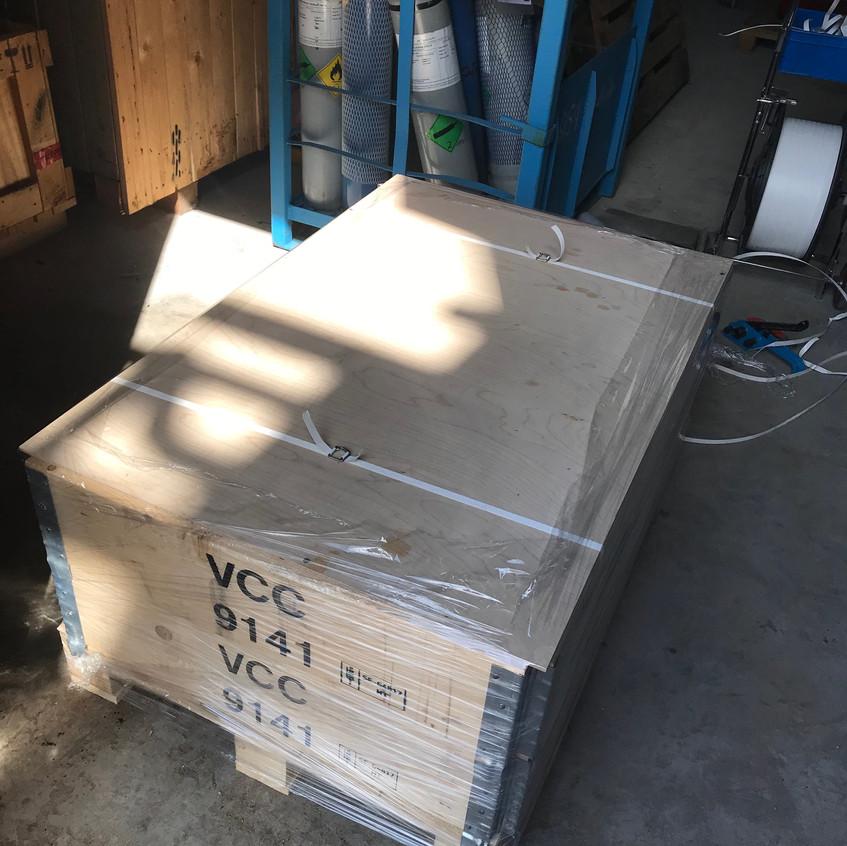Упаковка в паллетные борта