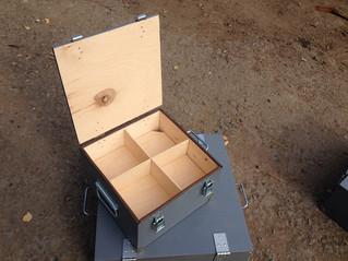Фанерный ящик с отделениями
