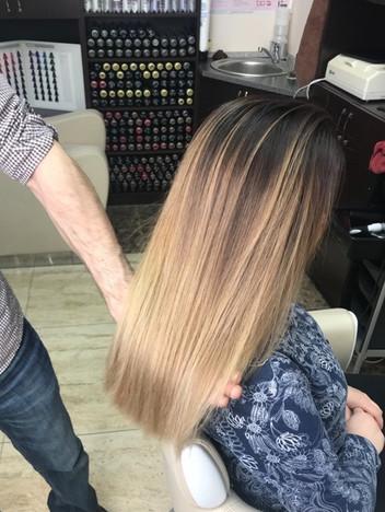 Окрашивание волос с плавным переходом