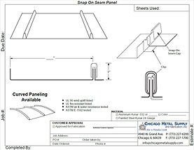Standing Seam Snap On T Panel Form
