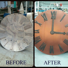 Copper Clocks for St. John the Baptist Catholic Church
