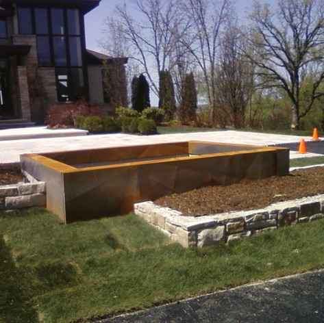 Corten Steel Fountain Base