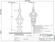 Finial F23 Form