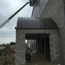 Standing Seam Curved Paneling