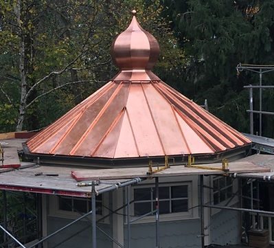 Copper Onion Dome & Standing Seam Roofing