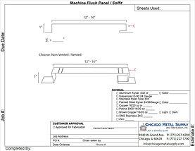 Machine Flush Panel / Soffit Form