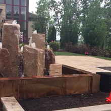 Completed Corten Steel Fountain Base