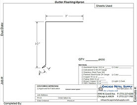 Gutter Flashing / Apron Form