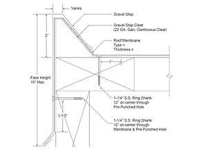 ES-1 Standard Gravel Stop Form