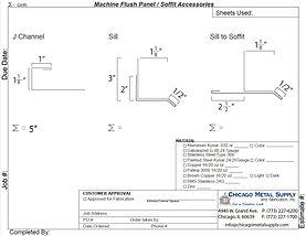 Machine Flush Panel / Soffit Accessories Form