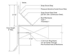 ES-1 Snap Gravel Stop Form